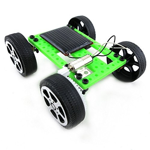 AMOUSTORE DIY Solar Powered Car Vehicle Toy Physics Science Model Learning Kit for Kids Teens and Adults Multicolor