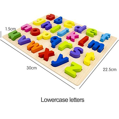 Ruipunuosi Wooden Digital Alphabet Building Blocks Puzzle Toys Learning Counting Early Educational Toy Children's Christmas Birthday Gift