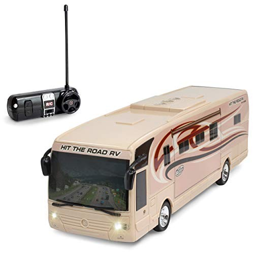 Kidirace Remote Control RV with Beaming Lights Rechargeable Battery  High-Speed RC Cars for