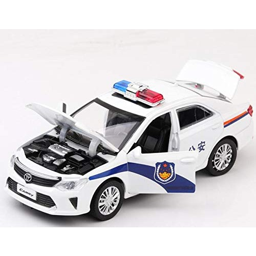 Diecasts Toy Vehicles Diecasts Toy Vehicles Police Toyota Camry Car Model with Sound Light