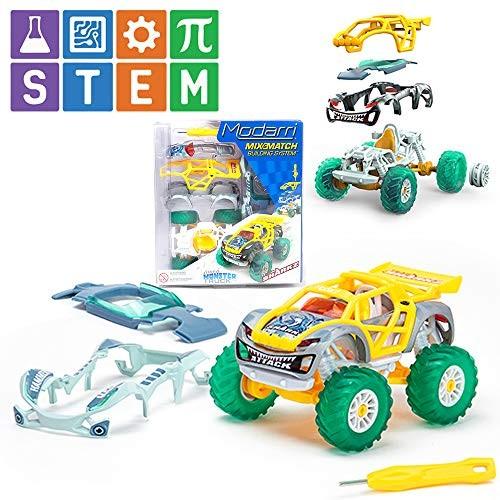 Modarri Turbo Line Team Sharkz Monster Truck   Build Your Car Kit Toy Set