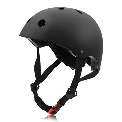 FerDIM Skateboard Helmet Kids/Adult Bike Helmet CPSC Certified for Skate Scooter Skateboarding Skiing Rollerblade