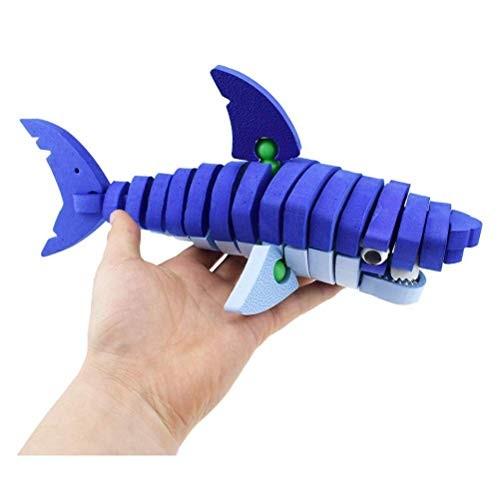 Auch 3D Shark Puzzle for Kids 47pcs EVA Foam Building Blocks Parent-Child Interaction Game Light & Moisture Proof Educational STEM Toys Assembly Kits 3+ Years Boys&Girls