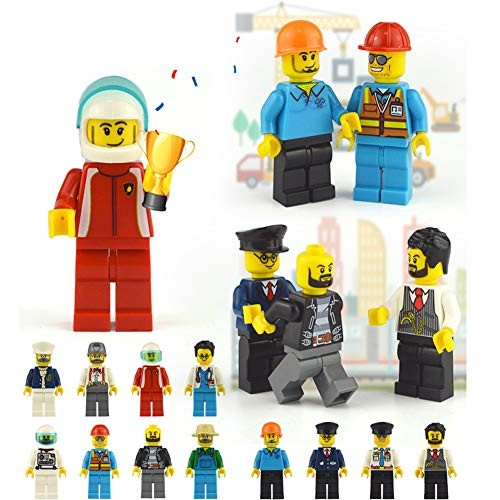 KumisY Set of 48 Homecoming Kids Toy Building Bricks Community Little People Figures Toys DIY Party Favors Block