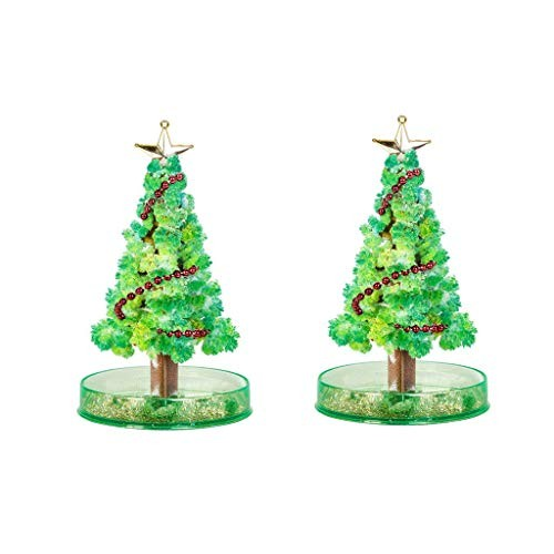 Luonita 2 PCS Magic Growing Crystal Christmas Tree Presents Novelty Kit for Kids Funny Educational and Party Toys 2 PCS