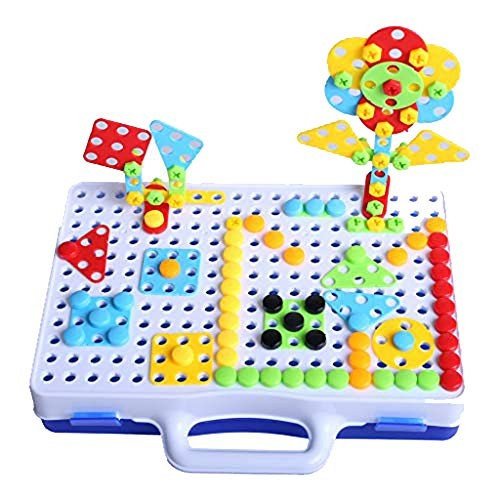 DICPOLIA Baby toy Building Block Toys Set with Drill 150 PCS Assembled Blocks Electric DIY Hands-on Disassembly Screw Kid ToysShipped from The USA