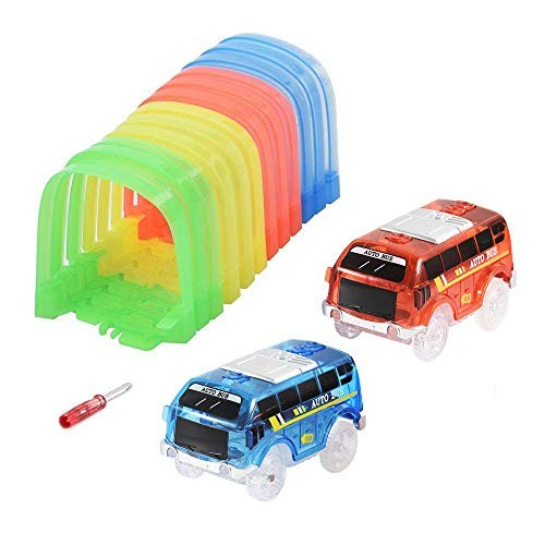 ONTOPON Magic Track Accessory Tunnel Track with 2 Car(Tunnel with car)