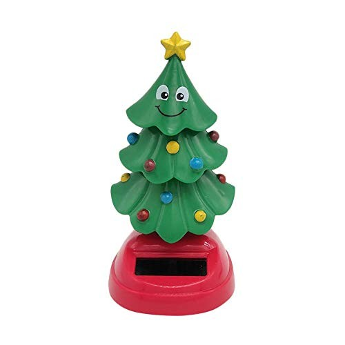 Bobble Head Toys Car Interior Decoration Solar Power Shaking Figure Swinging Christmas Tree Dancing for Cars and Home Kids Gift 105x5x 5 cm