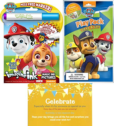 Bendon Publishing Paw Patrol Coloring Book Set - No Mess Imagine Ink Play  Pack And Bonus Celebrate Post Card Paw Party Supplies - Educational Toys  Planet