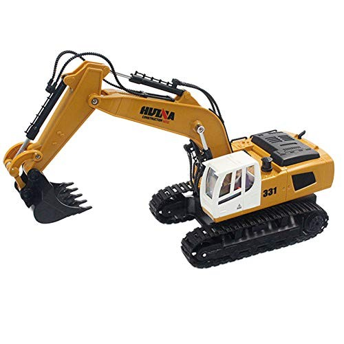 AKDSteel Hui-Na Toys 1331 1 16 24G 9CH Electric Rc Excavator Engineering Digging Truck Model for Car