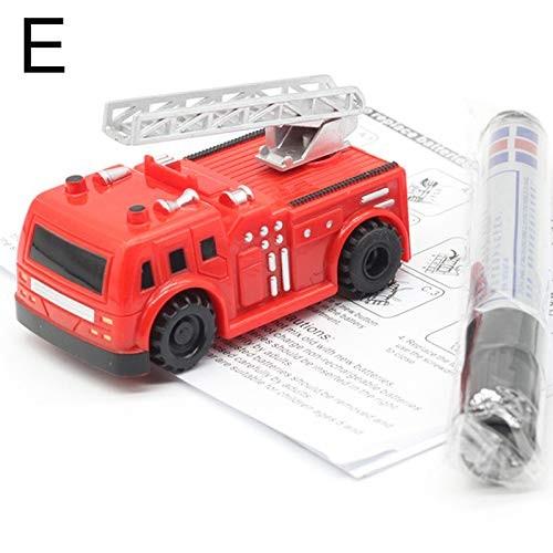 Tenrry Magic Pen Inductive Car Truck Follow Drawn Line Track Engineering Educational Mini Toy