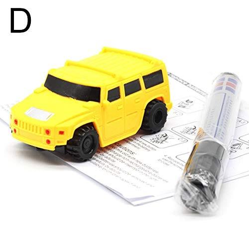 Finetoknow Magic Pen Inductive Car Truck Follow Drawn Line Track Engineering Educational Mini Toy
