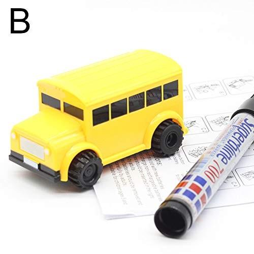 Lishiny Magic Pen Inductive Car Truck Follow Drawn Line Track Engineering Educational Mini Toy B