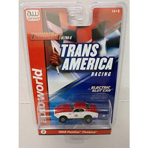 Auto World SC338-2 Trans America Racing 1968 Pontiac Firebird HO Scale Electric Slot Car