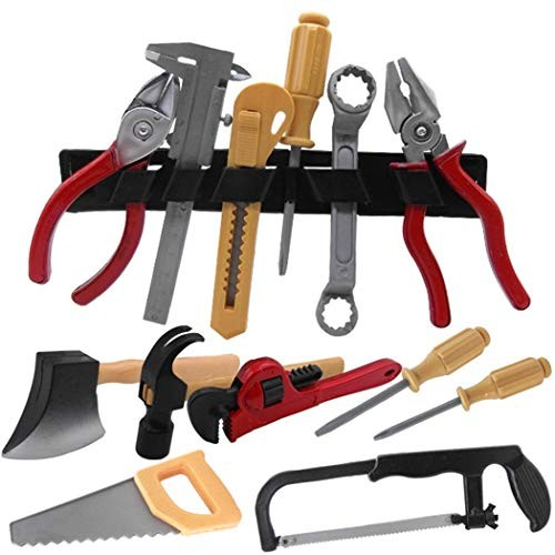 HOTUEEN Kids Workbench Power Home Repair Tool Toy Set Figures & Playsets