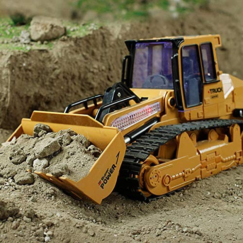 5 Channel RC Excavator 1/12 24Ghz Remote Control Tractor Car Toy Construction Vehicles Sand