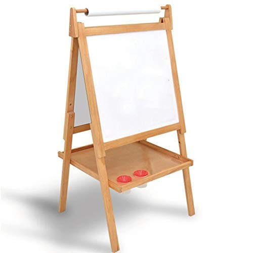 Easel RRH Solid Wood Children's Drawing Board Lift Bracket-Style Small Blackboard Painting Sketchpad Color A
