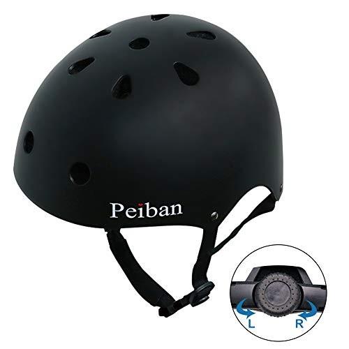 Peiban Skateboard Helmet Certified CPSC Adult&Kids Adjustable Dial Helmet with Multi Colos&Sizes for Bike