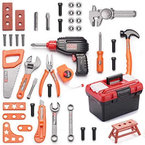 FenglinTech Tool Kit for Toddlers 42Pcs Box Set with Electric Drill Kids As