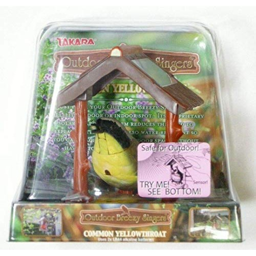 DAPANDA Outdoor Breezy Singers Common Yellowthroat Motion-Activated Solar Powered