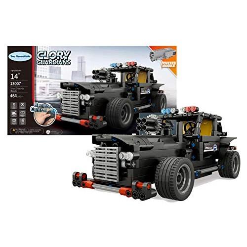 Toy Essentials 464 Pieces Police Car Remote Control RC Building Block Set