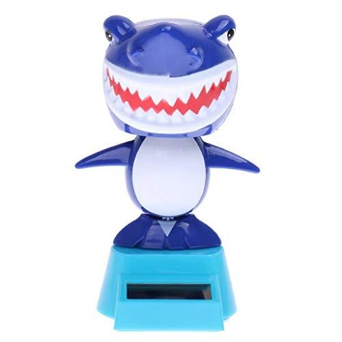 Solar Powered Bobble Toy Animated Head Toys Desk Top Car Interior Decor Ornament – Shark