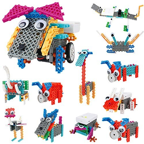 IAMGlobal 12 in 1 Robotic Kit Remote Control Animals Building Blocks Robot STEM Toy Bricks Machine Educational Learning Kits for Boys Girls
