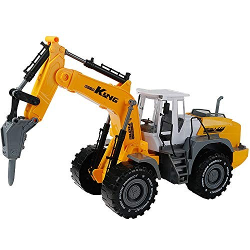 Toy Driller Demolition Machine Model for Kids Diecast Construction Vehicles Mini Engineering Toys Early Learning Birthday Gift Children Boys