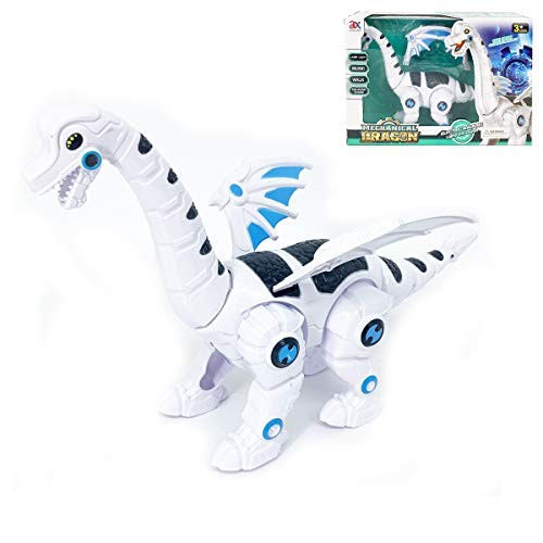 P&F Battery Operating Cyber Robotic Winged Dinosaur with Music Dino Sound Walking Light Up Toy