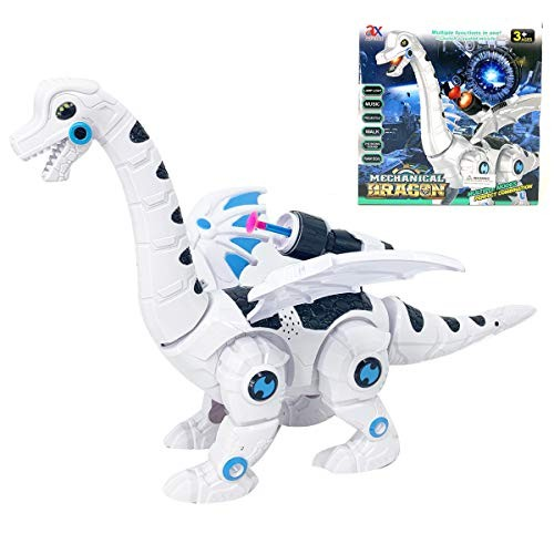 P&F Cyber Mechanical Dragon Robotic Winged Dinosaur with Space Weapon Music Dino Sound Walking Light Up Toy