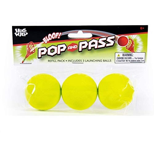 Refill Pack for Pop & Pass Outdoor Game – Includes 3 Soft Foam Balls