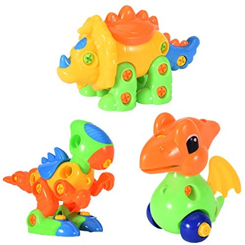 Freesa DIY Children'S Educational Toys Dinosaur Assembled Toy Three Different Styles Of Dinosaurs Exercise Your Child'S Brain Christmas Gift For Children Us Fast Shipment