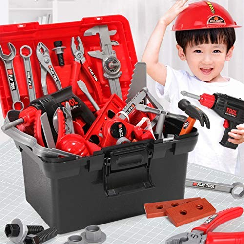 Christmas Gift 54 Piece Kids Toy Tool Set Construction Sets Pretend Play Toys with a Handy Storage Bag Ship from USA Directly