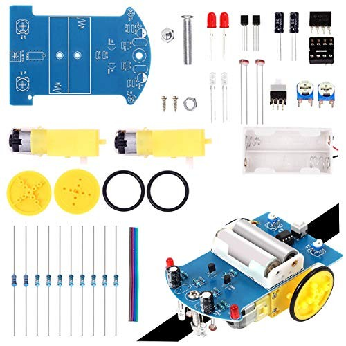 Soldering Practice Kit Electronic DIY Project Line Following Car DC Motor STEM Learning