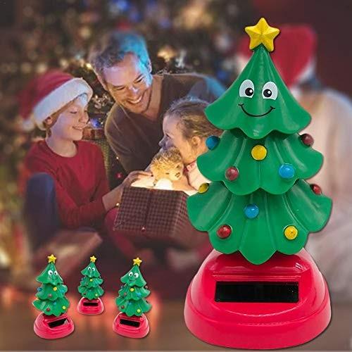 Solar Swinging Christmas Tree Car Interior Decoration Power Shaking Figure Bobble Head Toys Desktop Dancing 105x5x5cm