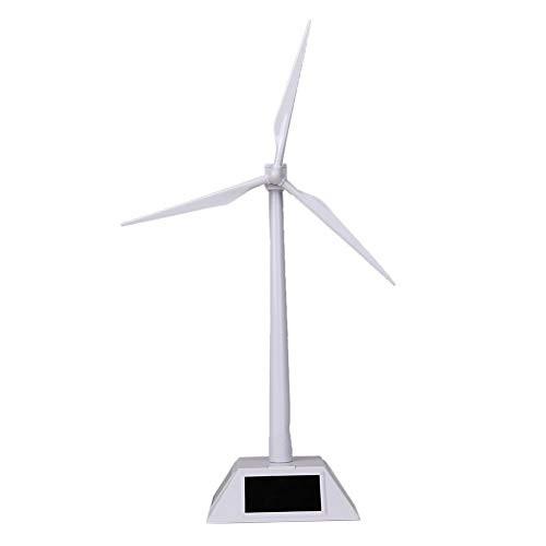 khkadiwb DIY ToysDIY Solar Power Rotating Base Windmill Wind Turbine Model Desktop Science Toy – White Assembling Beautiful Decor Durable Kids' Gift