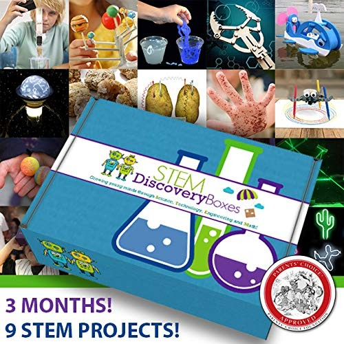 STEM Discovery Boxes – Subscription 3 Months 9 Projects