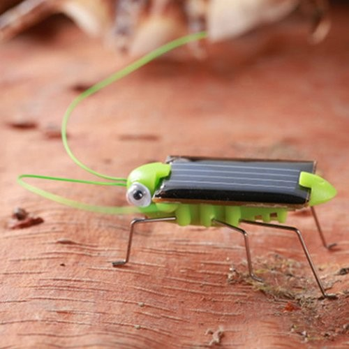 Creative Fun Solar Power Robot Insect Locust Grasshopper Educational Toy Novelty Gag for Baby Children Toddlers Boys & Girls