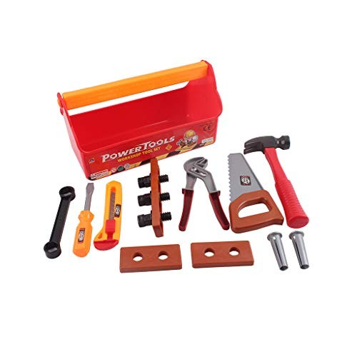 DIGOOD Tool Box Durable Kids Set Pretend Play Construction Kit Gift As Shown