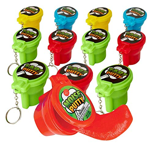 Kicko Toilet Noise Putty Toys for Kids – Pack of 12 Slimes 2 Inch Sensory and Tactile Stimulation Event Prizes Arts Crafts Bag Stuffers Party Favors Educational Games