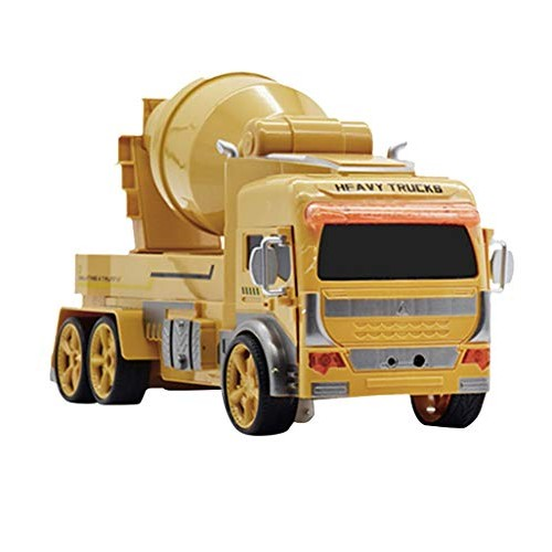 Mintuse Deformation Truck Mixer 1 12 Gesture Sensing Car Watch Engineering Robot Electric Toy with Music Dance Lighting Yellow Remote Control Version
