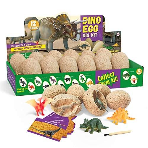 Mintuse Dinosaur Toys Eggs Kit Kids Gifts Break Open 12 Unique Cute Dinosaurs for Multicolor