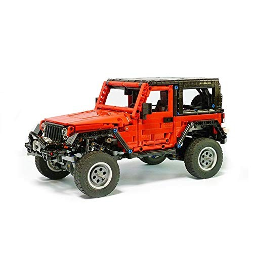 Vonado 8863 Jeep Wrangler Building Kit MOC Model Toys Birthday Indoor Interior Gift to Friends Boys and Adults 1371+PCS with PF