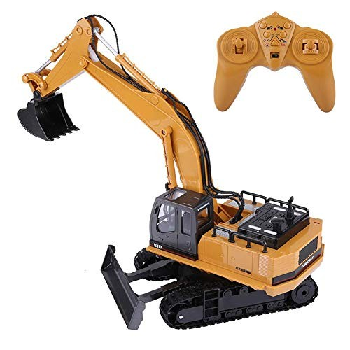 ZJchao RC Excavator 11 Channels 680 Rotate 1510 Remote Control Truck 1 16 Electric Engineering Toy Car