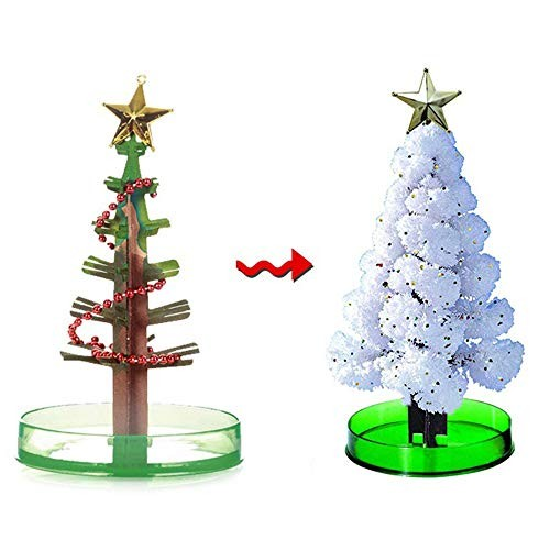TDORA Crystal Christmas Growing Tree Magic Tiny Pine TreesChristmas with Nutrient Solution Decoration Novelty Toys Gifts for Kids