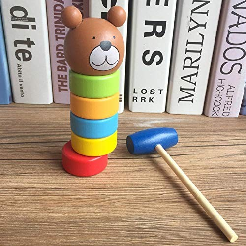 Immortal Daruma Building Blocks Beat Wooden Toys Puzzle Infant Toy Rainbow Stacking Tower Game Science Education Wood Environmentally Friendly Water-Based Paint 197x827in