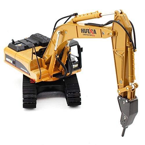 Metal Diecast Drill Machine Demolition Engineering Vehicle Construction Alloy Models Toys for Kids Demolition Machine