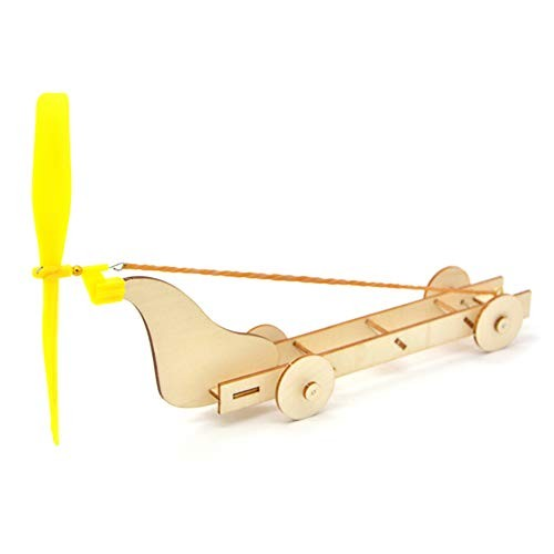 Finetoknow Wooden Rubber Band Winds Power Car Model Science Experiment Children DIY Assembly Educational Toy