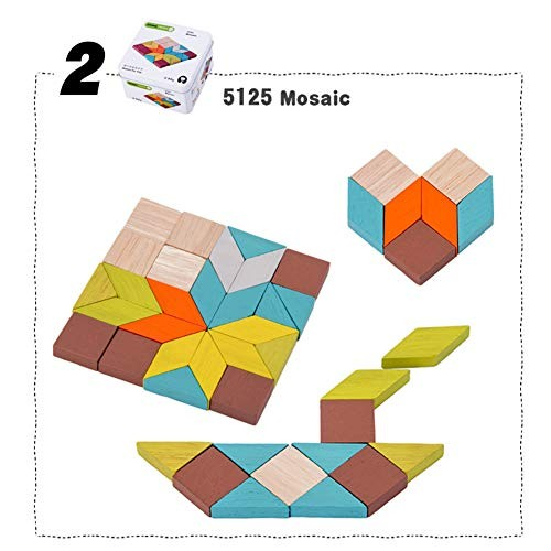 Foreen Wooden Building Blocks Domino Tangram Puzzles Fishing Game Education Kids Toy Best Christmas Birthday Gift for Children Mosaic
