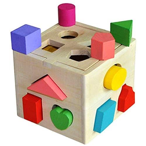 BlowGyro Geometric Building Blocks Intelligence Box Early Education Educational Toys Classification 13 Holes